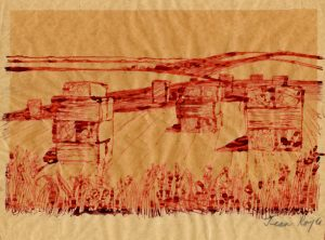 12_straw-bales-ink-and-wash-on-tracing-paper