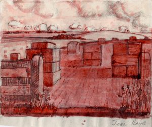 13_straw-bales-ink-and-wash-on-paper