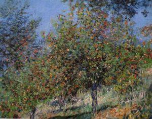 apple_trees_chantemesle_hill_monet_1