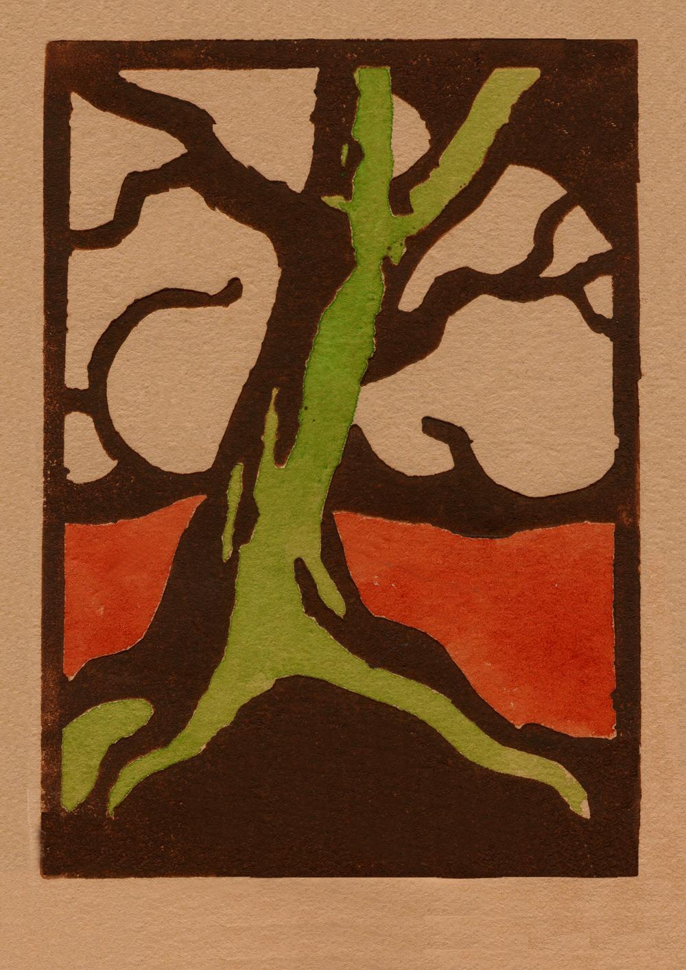 oak tree against cloud